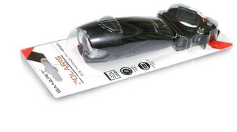 Фара передняя SMART, 1 Cree диод, 0,5 Watt, 2 режима,  крепеж на руль 22.4-31.8 мм, влагозащитный, с батарейками