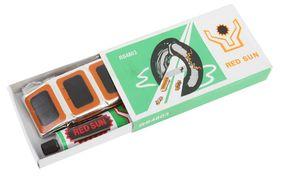 Аптечка велосипедная, заплатки, 48 шт., клей, RED SUN (4650064233584)