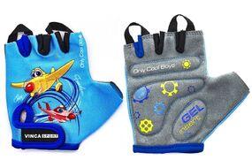 Велоперчатки детские PLANE, гелевые вставки 3XS (VG 935 child plane blue (3))