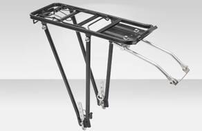 """Багажник задний, алюминиевый, 24-28"""", разборный, с регулируемыми стойками (черный)"""