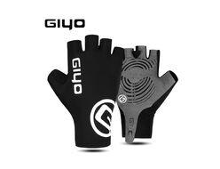 """Велоперчатки GIYO, короткий палец, гелевые вставки, биэластичные, силикон, лайкра, размер """"L"""""""