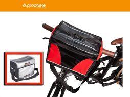 Велосумка, PROPHETE, крепление на руль, REX Waterproof (серый/черный)