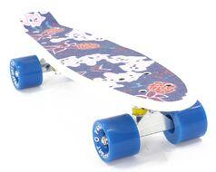 "Скейтборд (Пенниборд) PWS Print Grip Magna 22"" голубой/белый"