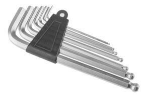 Набор инструментов KENLI (KL-9704A): ключи шестигран. 2/2.5/3/4/5/6 мм, пласт. держатель, блистер (4650064234666)