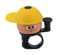 """Звонок велосипедный, """"Мальчик в кепке"""", алюминий/пластик, D40 мм"""