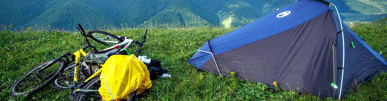 Велосипед и палатка