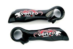 Рулевые окончания, VZ-E04-002, 22.2, 90 мм, Venzo (черный)